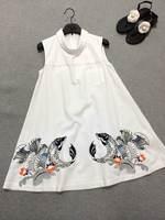2014 new summer women cotton doll dress carp