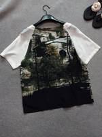 2014 new summer women silk short-sleeve blouse views