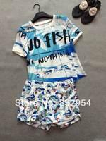 2014 new summer women cotton small shark suit