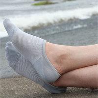 Free Shipping 24pcs=12 pairs/lot men's invisible bamboo fiber Socks, net, boat, anti slip,cheap and high qualtiy 2014 new
