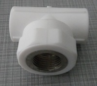 Ppr pipe fittings dn20 4 female wire ppr tee