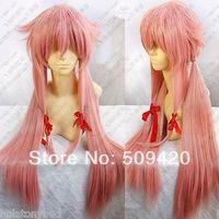 Free Shipping>>> Hot Sell! Future Diary Mirai Nikki Gasai Yuno Cosplay Wig