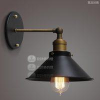 Loft rh fashion lamp vintage single head small protected wall lamp