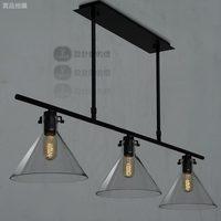 Yc american modern lamp bar counter crystal funnel pendant light