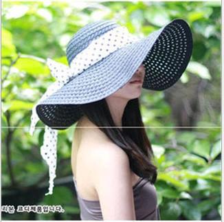 2014 Classical Simple Design Wide Brim Summer Straw Hat For Women Floppy Sun Cap Beach girls straw hats Free Shipping(China (Mainland))