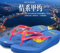 Korean fashion casual beach surfing cute elephant colored slipper factory wholesale E86