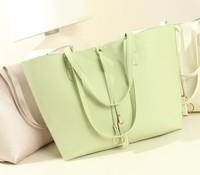 Women genuine leather handbags candy color messenger bag light green handbags shoulder bag for women -pu gifts 2014 new