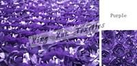 Purple Satin Rosette Fabric For Wedding Party Decoration Door to Door Shipping