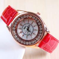 10 colors New Fashion Leather Strap Watch women rhinestone Watches For Women Dress Watch Quartz Watch 1pcs/lot