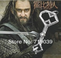 20pcs/lot Wholesale The Lord of the rings the hobbit THORIN oak shield treasure key pendant necklace,Men's fashion necklace 2014