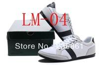 New Men's Shoes polo sport Sneakers Flat Shoes la lether fashion Sneaker white COLOUR Size:40-46