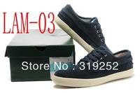 Free shippig high quality fashion fur Dark blue Leather Shoe LA Men's Leisure Sneakers men's Leather Shoes size : 40-45