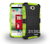 200pcs DHL Free 2 in 1 Hard TPU + PC Stand Holder Robot Combo Cell Phones Case For LG Series III L70  For LG l70