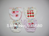 Girls Triangle Cartoon Briefs Underewear Pants With Stawberry Hello Kitty Print 24Pcs A Lot Size90-140Cm Free shipping