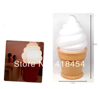 2014 Novelty Ice Cream Cone Shaped Night Light Desk Table Lamp Kids Children Party