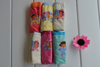Wholesale Girl Dora Briefs Children Underwear Pants Kid's Cute Cartoon Underewear 6 Colors/Bag 6 Sizes Available Free Shipping
