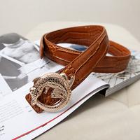 2014 fashion handsome male wire male Crocodile belt strap waist of trousers belt