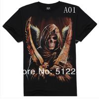 Metal Men's Athletic Men's short sleeve t-shirt shirt Skull 3Dt men's tracksuit 3d t shirts 3d t-shirt