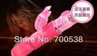 Rotation Rabbit Vibrator,Turn Beads and streach Multi-Speed Dildos retractable sex toy