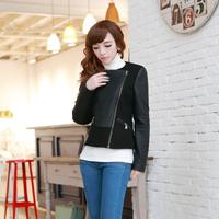 Latest Women's Short Slim spring and spring new female black jacket