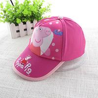 Peppa Hat Pig Baseball Hat Kid Summer Cap for Girls Boys Children Wholesale