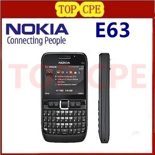 Free Shipping Nokia E63 QWERTY Keyboard2 MP camera Bluetooth Wifi FM Unlocked original compose refuribished cell Phone(China (Mainland))