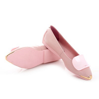 2014 women's shoes flat soft surface women's genuine leather shoes anti-slip soles sweet comfortable genuine leather single