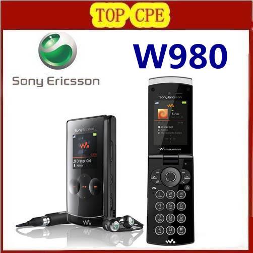 Original Unlocked Sony Ericsson W980 3G Quad band Bluetooth FM JAVA 3.15MP Camera Mobile Phone Refurbished 1 Year warranty(China (Mainland))