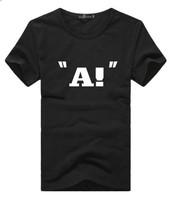 2014 new popular trend on the streets of creative printing T-shirts Men's Summer Men's Black Shirts M-XXL