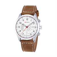 CURREN Brand Genuine Leather Watch Stylish Quartz AnalogFashion Man's Sports Water Resistance Wristwatch Clock Hours relogio