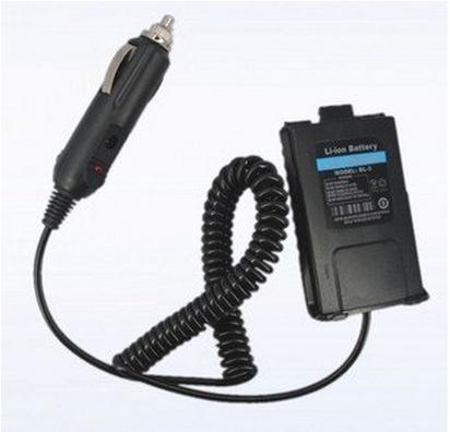 New 2014 Original Battery Eliminator Car Charger For portable radio BAOFENG UV-5R 5RA/5RB/5RC+FREE SHIP(China (Mainland))