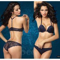 Free Shipping,French Romantic Brand Lace Bra Sets Sexy Women Underwear Set Push Up ABC Bra Set- Bra Panty Set