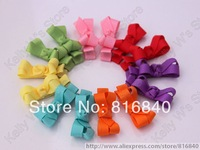 Free shipping wholesale 100pcs/lot,50colors Lovely Tiny baby Clip, Infant Hair bows,Baby Grosgrain Ribbon Bows for baby girls'