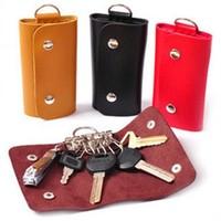 Leather Wallets men and women fashion keychain Key bag Portable PU [230303]