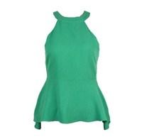 New 2014 Women's Tops  Halter-neck  Forever Strapless Skirt Chromophous American  Green Yellow White Ruffles Tops for Women