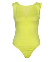Fashion chic single transparent gauze cotton bodysuit stretch small vest 3497 three-color