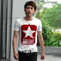 2014 new fashion men's fashion T-shirt printing M-XXL