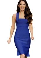 Plus Size New 2014 Sexy  Ruffle One-piece Dress vestidos Women's Dresses Loyal Blue Party Dress Party Dresses