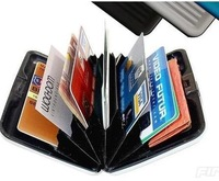 New 2014 free shipping Business ID Credit Card Holder Aluminum Case Box Credit card package multicolors men/women wallets