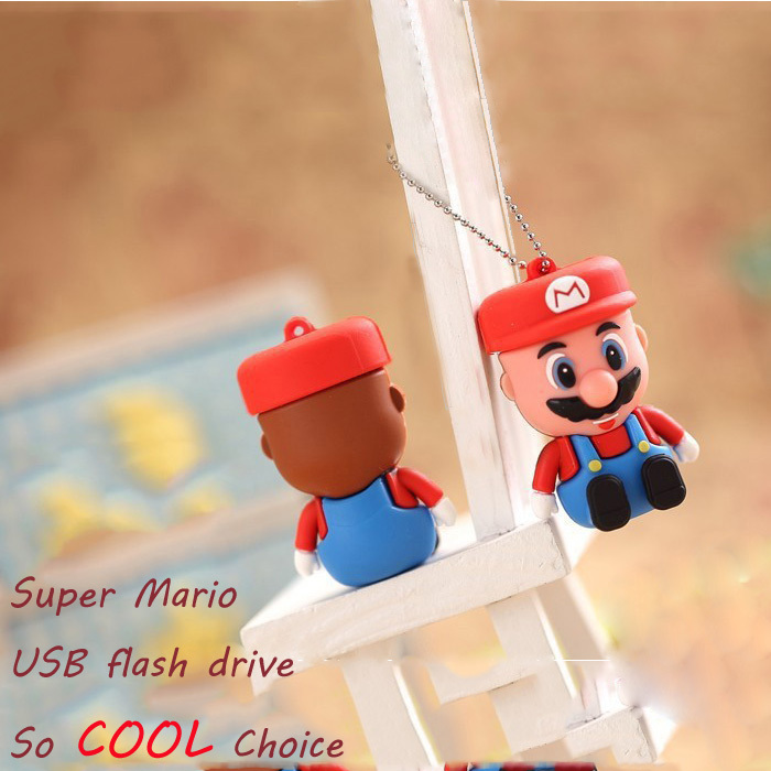 Lovely Cartoon mini Super Mario pen drive 8GB 16GB 32GB 64GB Pendrive USB Flash drive Best Gift Act U disk / Toy Multifunction(China (Mainland))