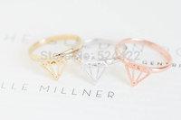 2014New imitation Diamond Shape  Rings Diamond Jewelry Gifts Knuckle Rings wolesale