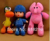 Free shipping 3 pcs/ lot BANDAI Plush Pocoyo Plush Doll Large Doll Lovely Pato Elly Cartoon Figure 12inch 30cm stuffed  Toys