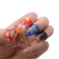 NEW 3 Finger Picks 1 Thumb Pick Plectrum Medium Celluloid For Guitar