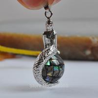 New Zealand Abalone Shell Bead Pendant Mermaid Jewelry Free shipping S1162