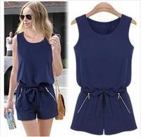new 2014 spring and summer fashion casual Jumpsuits & Rompers women's clothing hot Elastic waist loose sexy girl's clothing