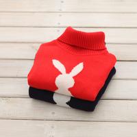 single female child soft cashmere sweater turtleneck sweater