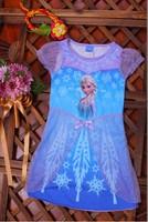 Frozen Dress Elsa & Anna Summer Dress  Girl  Princess Dresses Girls Dress Children Clothing Kids Wear 60PCS DHL FREE S HIPPING