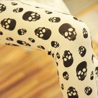 2014 spring Fashion Personality skull  legging Ankle length leggings Women leggings Punk rock Harajuku BB-06