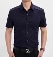 2014 men clothes  mens shirts   cotton short sleeve fashion shirt  5color/M,L,XL,XXL,XXXL  (DC0031)