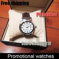 2014 New Unisex Stylish leather strap watches men sports watches Complete Calendar watches men luxury brand Business men's watch